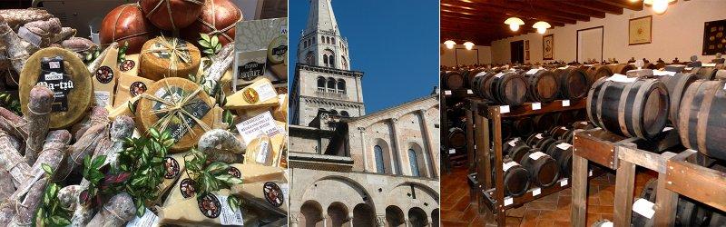 Modena en Bologna details